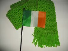Christmas Gifts for St Patrick's Day Crochet Scarf Unisex Kelly Green