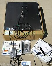 Long Range WiFi Kit - 50ft LMR400 Cable, Alfa 19dBi Panel Antenna R36+1000mW USB
