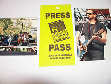 Old Concert Press Backstage Pass & Photos August in Arkansas 1992 Photographs