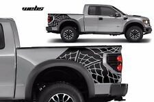 Vinyl Rear Decal Webs Wrap Kit for Ford F-150 Raptor SVT 2010-2014 Matte Black