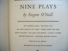 Nine Plays by Eugene O'Neill, 1932 Hardcover