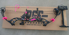 "NEW  PSE STINGER X SKULLWORKS 2 CAMO 50lb 50# BOW 21-30"" RH PINK KIT PACKAGE"