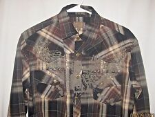 Franky Max Size S Long Sleeve Snap Front Western Shirt
