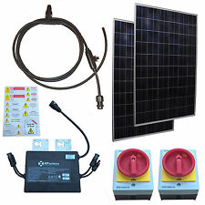500W Grid Tied Solar Kit - Easy Install - Expandable - 12 Year Panel Warranty