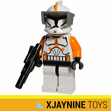 LEGO STAR WARS Clone Trooper Commander Cody Minifig + Blaster Gun NEW RARE