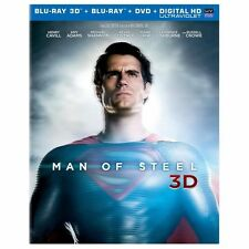 Man of Steel 3d (Blu-ray/DVD, 2013, 4-Disc Set, Includes Digital Copy