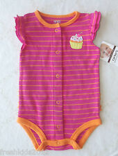 "Carter's Baby Girl Ruffled Speedy Exit Creeper ""Cupcake"" 6 Months NWT G82404"