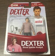DEXTER BLOOD SPATTER ANALYST ACTION FIGURE. MINI. FROM SHOWTIME SERIES. NOC.