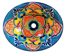 #135) LARGE 21x17 MEXICAN BATHROOM SINK CERAMIC DROP IN UNDERMOUNT BASIN