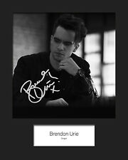 BRENDON URIE #1 10x8 SIGNED Mounted Photo Print - FREE DELIVERY