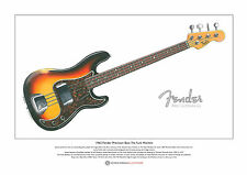 James Jamerson's 1962 Fender Precision Bass Ltd Edition Fine Art Print A3 size