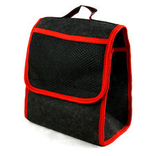 Car Care Protection Tidy Organiser Red Trim Storage Boot Bag with Pockets New