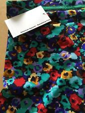 AMERICAN APPAREL High Waist Printed Tricot Legging Size XS-Multi Flower-BNWT