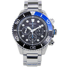 NEW SEIKO MENS SOLAR CHRONOGRAPH DIVERS 200M PRO WATCH - SSC017P1- RRP £279