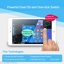 8'' Tablet PC 1920x1200 IPS Windows10 Android 2GB+32GB Intel Quad Core Cellulari