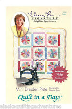 Pattern & Acrylic Template ~ MINI DRESDEN PLATE ~ Eleanor Burns - Quilt in a Day