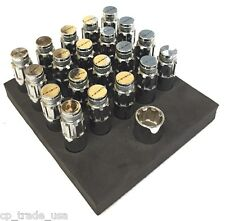 NRG STEEL LUG NUTS WITH DUST CAP COVER SET 12X1.25 SILVER