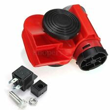 136db Red 12v Dual Tone Snail Compact Eletric Pump Air Horn Siren Loud Car Boat