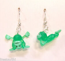 "NEW GREEN Mini Funny Silly Goofy Cute Monkeys Apes Toys 1"" Dangle Earrings"