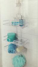 3 nivel Blanco Colgante a prueba de herrumbre almacenamiento Caddy ducha cesta Estante Organizador Ordenado