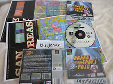 Grand Theft Auto PS1 (COMPLETE WITH MAPS) platinum rare Sony Playstation GTA