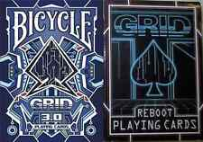 Bicycle Grid 3.0 & Reboot Playing Cards 2 Deck Set - Limited Edition - SEALED