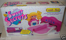 #9068 NRFB Vintage Galoob Sweet Secrets Comb - Bed Playset with Doll