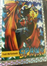 SPAWN - WIZARD 1: 1992 PROMO TRADING CARD - 9.2