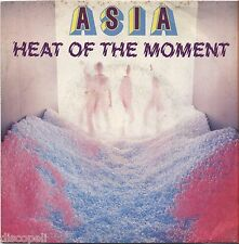 "ASIA - Heat of the moment - VINYL 7"" 45 ITALY 1982 MINT COVER VG+ CONDITION"