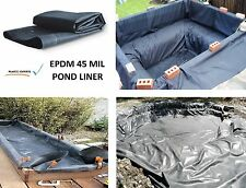45mil EPDM 3' x 10' Firestone UV Flexible Fish Waterfall Back Garden Pond Liner