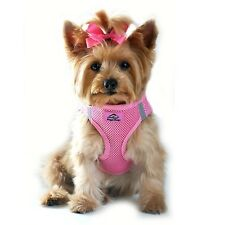 CHOKE FREE REFLECTIVE STEP IN ULTRA HARNESS - PINK - ALL SIZES - AMERICAN RIVER