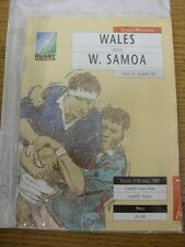 06/10/1991 Rugby Union Programme: World Cup - Wales v Western Samoa [At Cardiff
