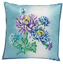 DESIGNERS GUILD CHANETI LAPIS CUSHION CVER 50X50CM BNWT OMBRE  EMBROIDERED SATIN