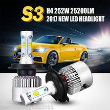 H4 252W 25200LM PHILIPS LED Headlight Kit Hi/Low Beam Bulb White 6500K Power TM
