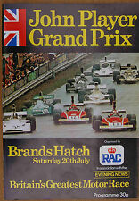 1974 BRANDS HATCH JOHN PLAYER GRAND PRIX RACE PROGRAMME