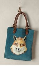 Excellent Anthropologie Garden Guest Fox Leather Purse Bag Handbag