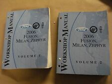 2006 Ford Fusion Milan Zephyr Workshop Service Manual Volume 1 & 2 Factory Book
