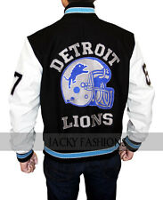 Beverly Hills Cop Detroit Lions Axel Foley Letterman Jacket + FREE GIFT