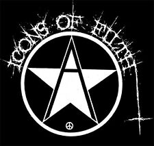 ICONS OF FILTH - STAR BACK PATCH-PUNK,CRUST,GRINDCORE,THRASH