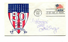 Autograph WHOOPI GOLDBERG on FDC Flag Stamp 1963 Actor Movies TV Personality