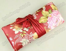 Fashion women's Beautiful silk roll jewelry jacquard bag / purse 10.5x8inch