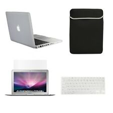 "4in1 Rubberized CLEAR Case for Macbook PRO 13"" +Keyboard Cover + LCD Screen+ Bag"