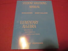 Student Solutions Manual Elementary Algebra By Jay Lehmann (2008) 0-13-220174-2