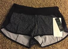 NWT Lululemon 2016 SEAWHEEZE Speed Shorts SZ 6 In CMBW/BLK - READ INTL SHIP