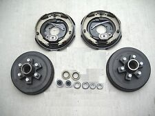 """Add Brakes Basic Kit 6x5.5 Drums 12"""" Electric Backing Plates, 6000# Trailer Axle"""