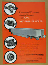 1958 National Castings NACO Mine Cars Olga Coal Company Use vintage print Ad