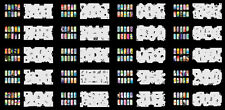 Reuseable Airbrush Nail Art Stencil 320 DESIGNS - 20 Template Sheets Kit