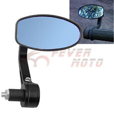 1x 7/8'' BLK Motorcycle Reversible Bar End Rear Side Mirror For Honda CBR VTX FM