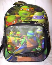 """Teenager Mutant Ninja Turtles 16"""" Backpack & Matching Attachable Lunch Box-New"""