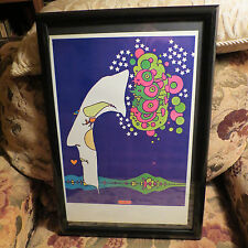 "PETER MAX VINTAGE POSTER-- MIDNIGHT DREAM--1970-  FRAMED -13 "" X 19 """
